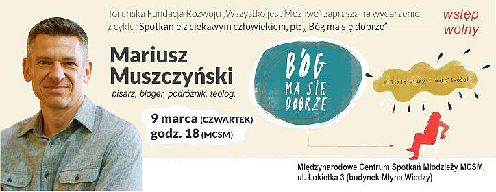 Spotkanie autorskie z Mariuszem Muszyńskim